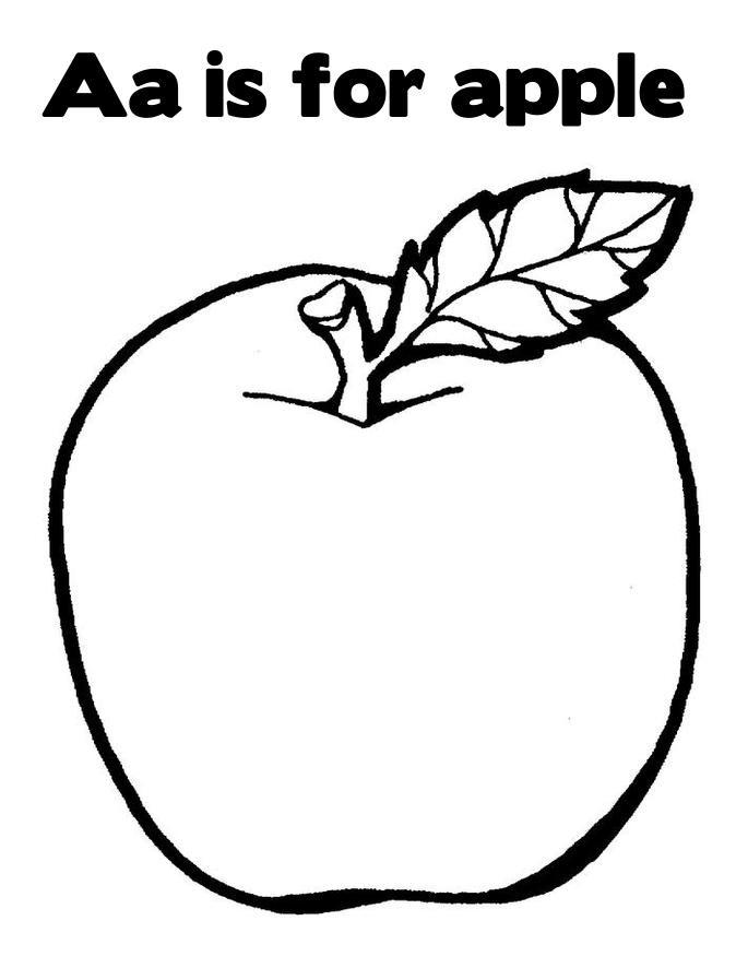 Coloring Page Apple  coordinizecom