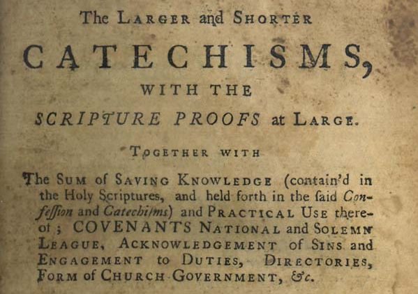 Larger Shorter Catechism Cover